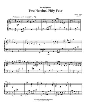 Sheet Music Two Hundred Fifty-Four