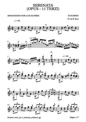 Sheet Music terzi op11 serenata shubert