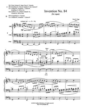 Sheet Music Invention No. 84