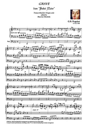 """Sheet Music """"Grave"""" Transcribed for Organ solo."""