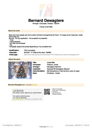 Sheet Music Jingle Bells