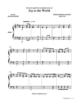 Sheet Music Joy to the World