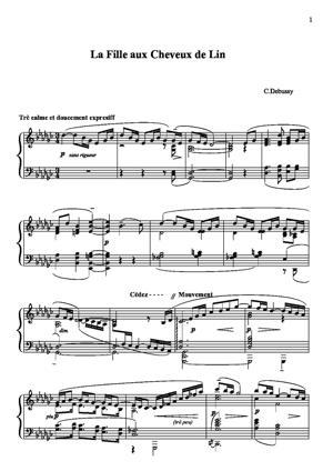 Sheet Music Préludes