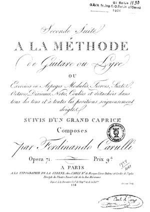Sheet Music Seconde Suite à la Méthode de Guitare ou Lyre