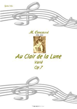 Sheet Music Au Clair de la Lune (varie)