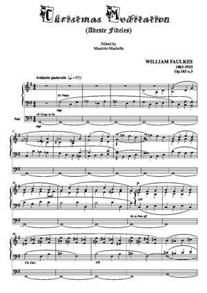 """Sheet Music Christmas Meditation (""""Adeste fideles"""")"""