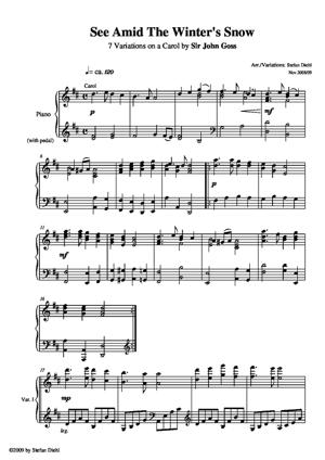 Sheet Music See Amid The Winter's Snow (Variations)