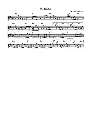 Sheet Music The Fiddlist