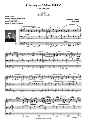 "Sheet Music Offertory on ""Adeste Fideles"" for Organ"