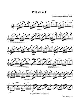 Sheet Music Prelude in C