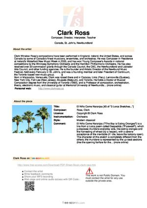 Sheet Music El Niño Come Naranjas