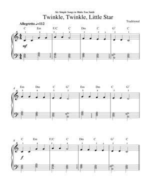 Sheet Music Traditional - Twinkle Twinkle Little Star