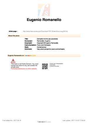 Sheet Music Concerto minimo per pianoforte