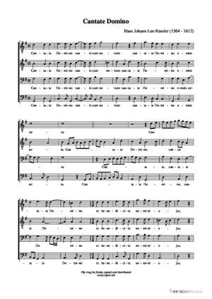 Sheet Music Cantate Domino