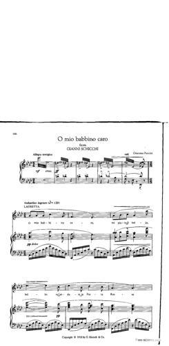 Sheet Music O mio babbino caro