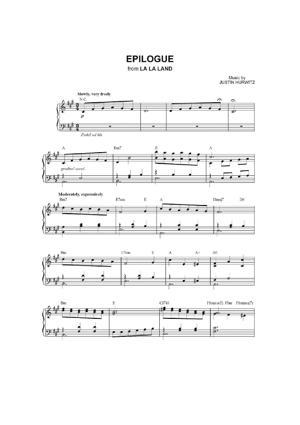 Sheet Music La La Land - Epilogue