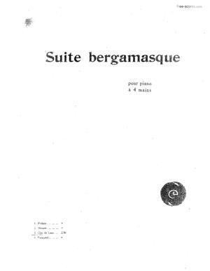 Sheet Music Clair de Lune