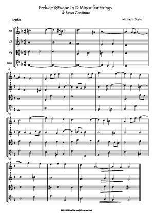 Sheet Music Prelude & Fugue For Strings & BC No. 2
