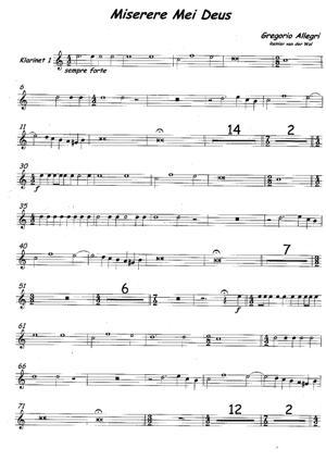Sheet Music Miserere Mei Deus
