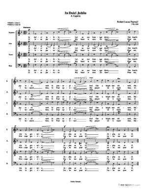 Sheet Music In Dulci Jubilo