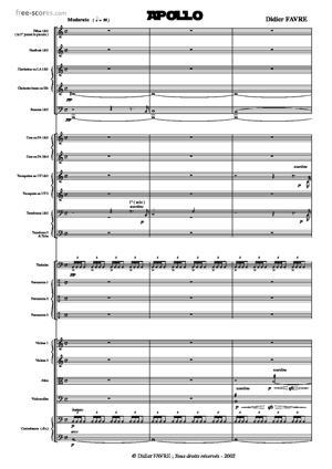 Sheet Music Didier FAVRE - APOLLO