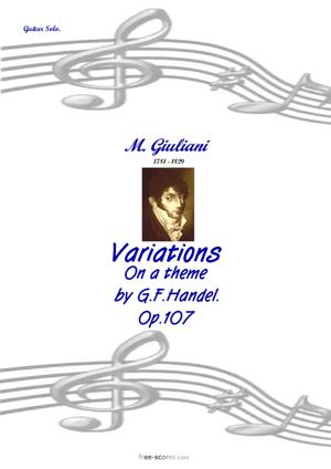 Sheet Music Variations on a theme by G.F.Handel