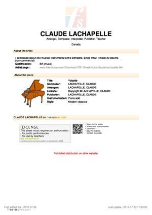 Sheet Music Valsette