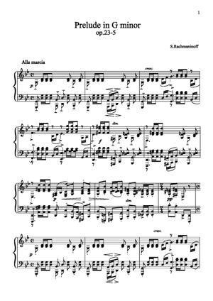 Sheet Music Prelude in G major