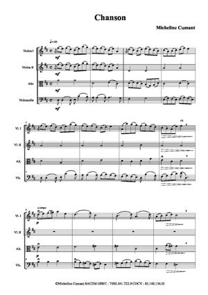 Sheet Music Chanson à cordes