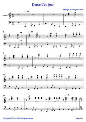 Sheet Music Dance of a day