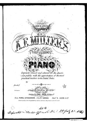Sheet Music First lessons, book 1