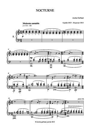 Sheet Music Nicolas Guillaud - Nocturne in a minor