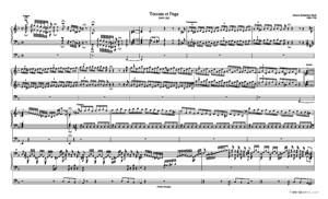 Sheet Music Toccata and Fugue in D Minor