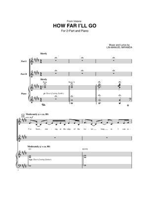 Sheet Music from Moana - How Far I'll Go