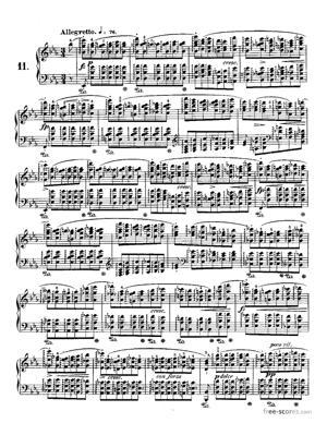 Sheet Music Etude No.11 in Eb major