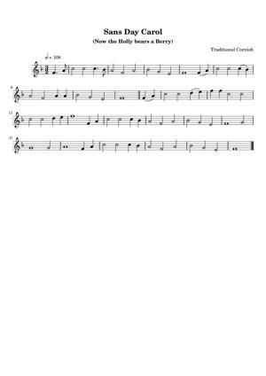 Sheet Music Traditional English - Sans Day Carol