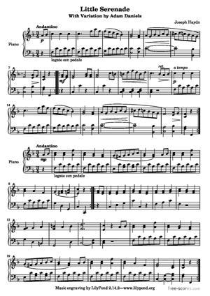 Sheet Music Little Serenade