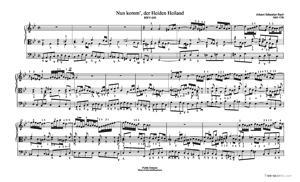 Sheet Music Nun komm', der Heiden Heiland