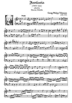 Sheet Music Fantasia in d minor TWV 33:2