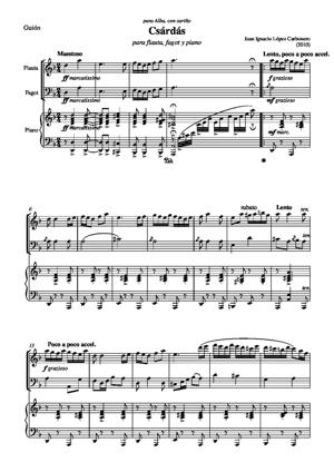 Sheet Music Csárdás