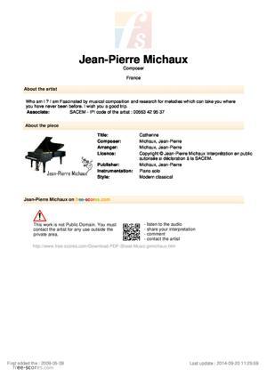 Sheet Music Catherine
