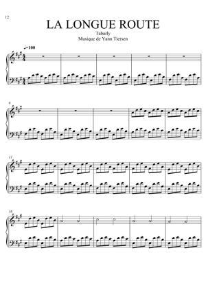 Sheet Music Yann Tiersen (from Tabarly) - La Longue Route