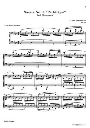 """Sheet Music Sonata No. 8 """"Pathétique"""""""