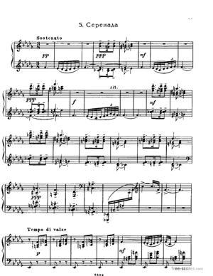 Sheet Music Sérénade