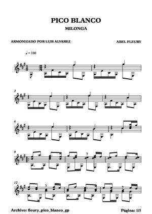 Sheet Music fleury pico blanco
