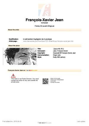 Sheet Music Septième Offertoire.