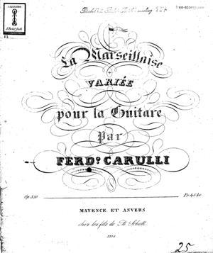 """Sheet Music Variation on """"La Marseillaise"""""""
