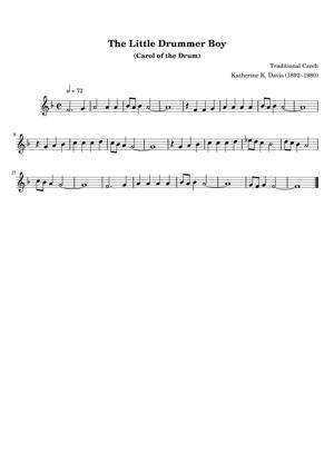 Sheet Music Traditional Czech - The Little Drummer Boy