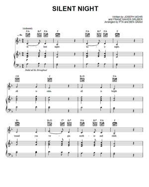 Sheet Music Pentatonix - Silent Night