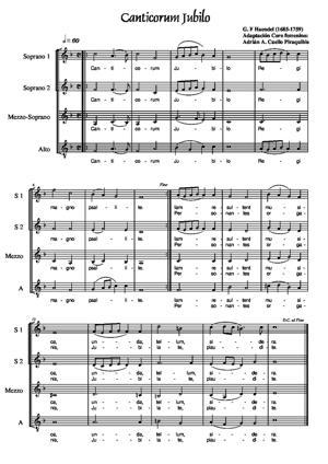 Sheet Music Canticorum Jubilo